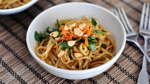 Super Simple Spicy Thai Noodles Mel S Kitchen Cafe