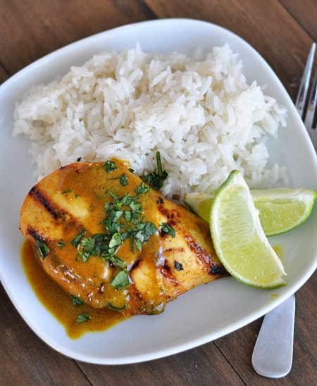 Lime Coconut Chicken with Coconut Rice