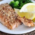 Maple Pecan Crusted Salmon