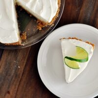 Sour Cream Lime Tart {Or Pie!}
