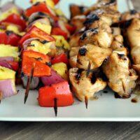 Grilled Honey Chicken and Veggie Kebabs