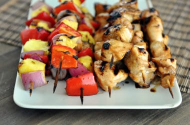 Honey Chicken and Veggie Kabobs