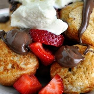 Ebelskivers {Puffy Danish Pancakes}