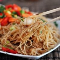 Hoisin Rice Noodles with Shrimp