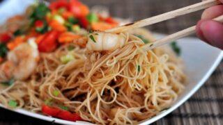 Hoisin Rice Noodles with Shrimp