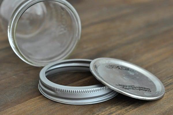 a mason jar, lid, and ring