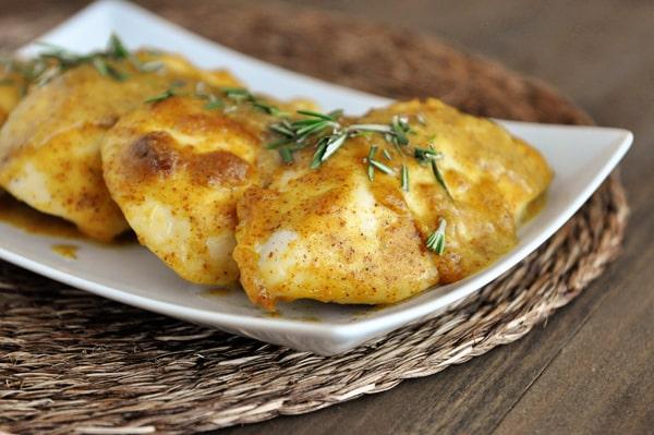 Sweet Mustard Baked Chicken