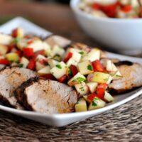 Cinnamon Pork Tenderloin with Fresh Apple Salsa