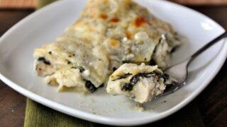 White Chicken and Spinach Lasagna