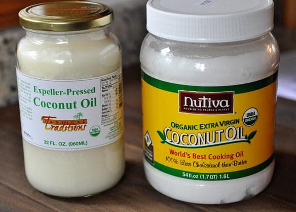 two jars of coconut oil side-by-side
