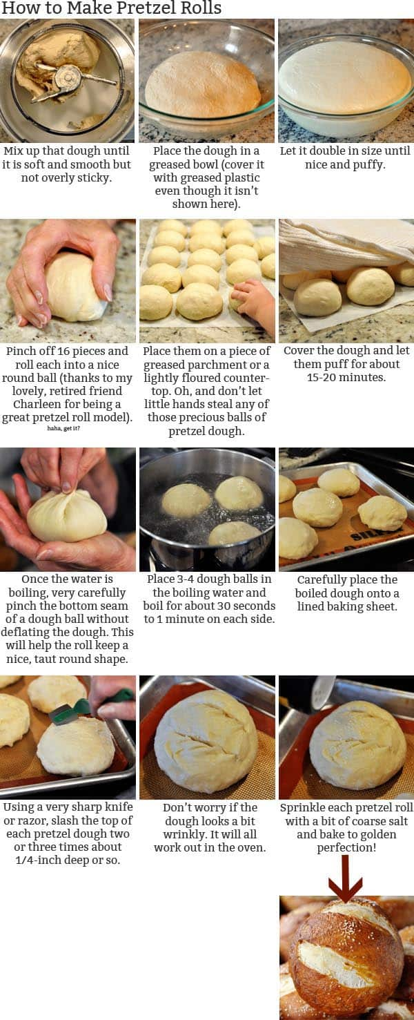 How to Make Pretzel Rolls