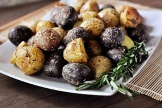 Salt Crusted Potatoes with Fresh Rosemary