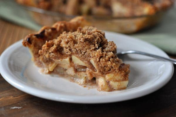 recipe: crustless apple pie with crumb topping [1]