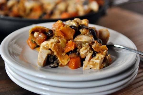 Black Bean and Butternut Enchilada Skillet