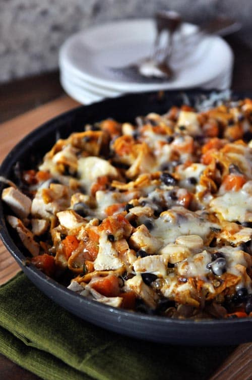Black Bean and Butternut Enchilada Skillet