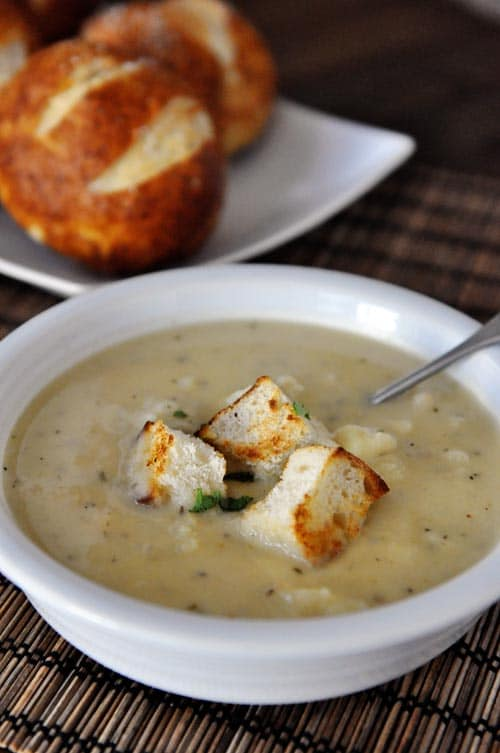 baking staring us in the face right now, this roasted cauliflower soup ...