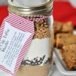 Chocolate Chip Toffee Blondie Mix in a Jar
