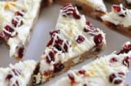 Orange Zested Cranberry Bliss Bars