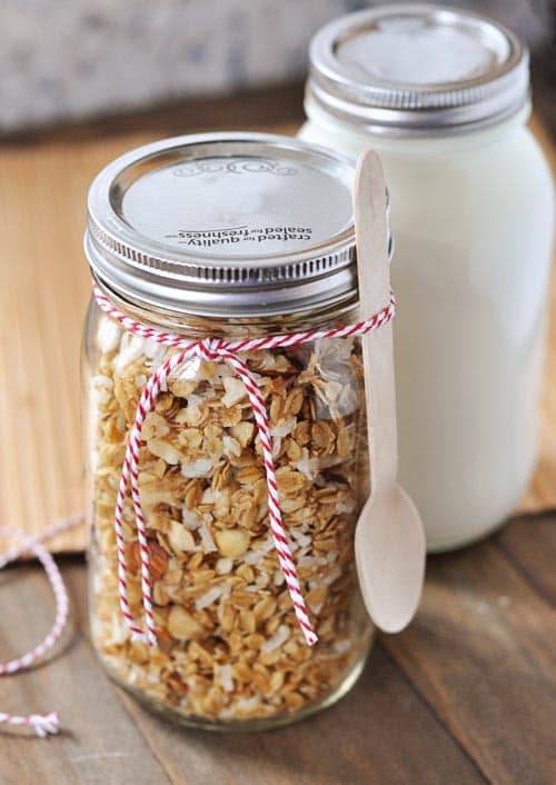 Homemade Granola and Coconut Yogurt