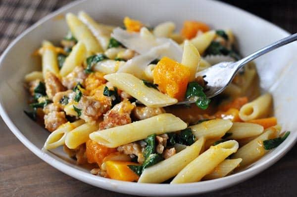 recipe: butternut squash ground turkey pasta [5]