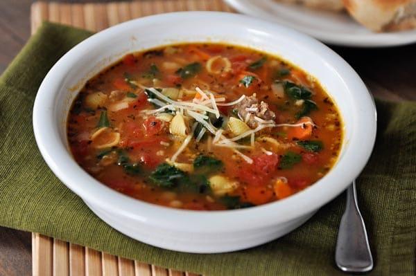 Tuscan Sausage and Shells Soup
