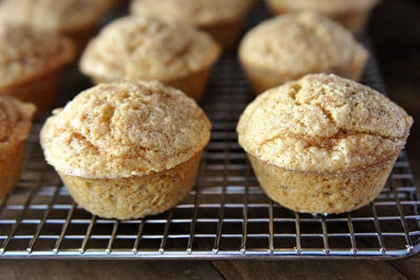 Cinnamon Sugar Dusted Coconut Vanilla Muffins