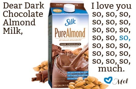 I Love You: Dark Chocolate Almond Milk