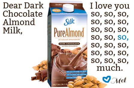 I Love You: Dark Chocolate Almond Milk