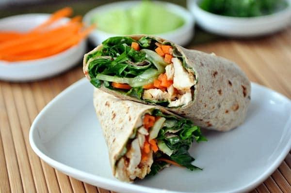Thai Chicken Crunch Wraps
