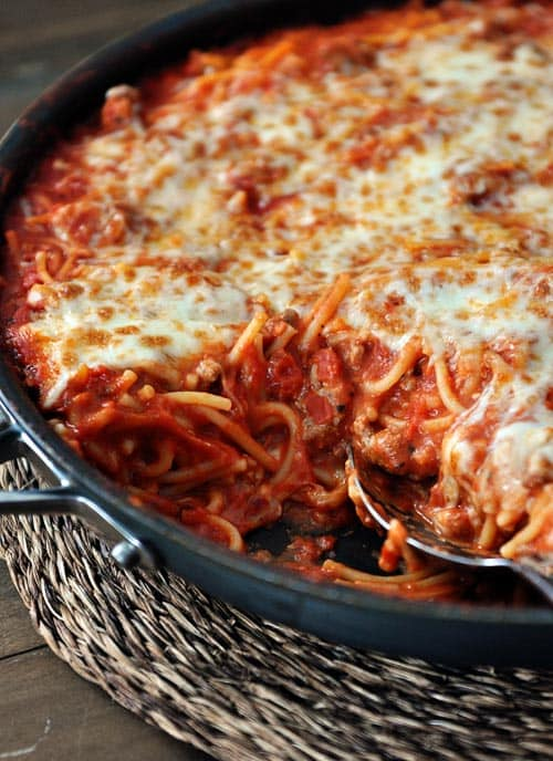 39 Responses to Skillet Baked Spaghetti {One Pot, 30-Minute Meal}