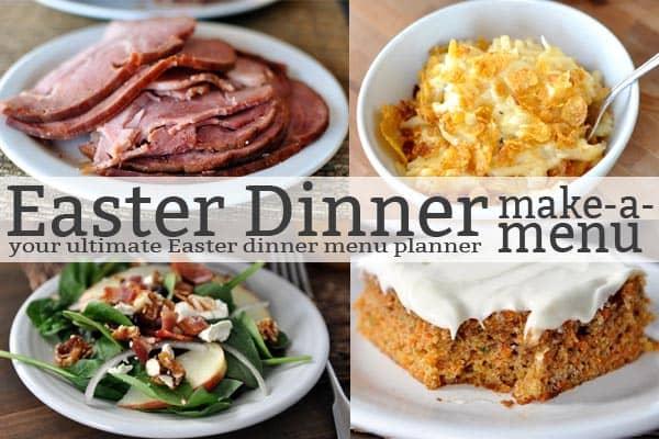 Easter Dinner Make-a-Menu