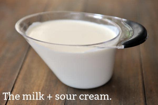 milk + sour cream