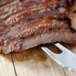 Grilled Honey & Ginger Marinated Flank Steak
