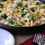 One Pot Creamy Lemon Chicken Pasta with Broccoli