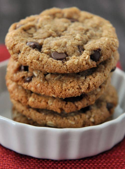 Whole wheat chocolate oatmeal cookies recipe