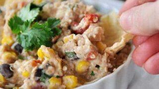 Creamy Tex-Mex Quinoa Dippers