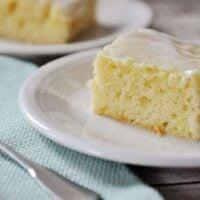 Glazed Lemon Yogurt Sheet Cake
