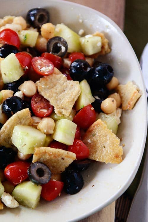 Greek Pita Bread Salad