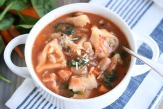 Creamy Tuscan Tortellini Soup {Quick and Easy}