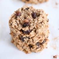 stack of baked healthy breakfast cookies