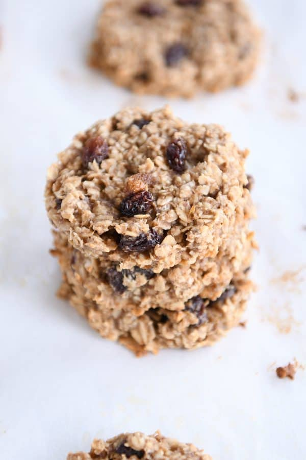 stack of baked healthy breakfast cookies