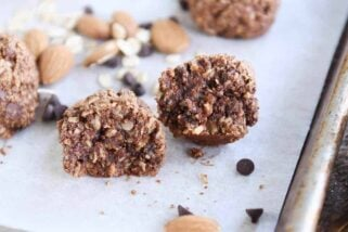 Chocolate Peanut Butter Brownie Granola Bites