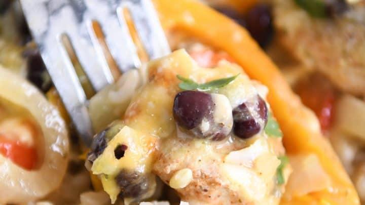 creamy chicken enchilada bake6