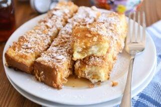 Crunchy Baked French Toast Sticks
