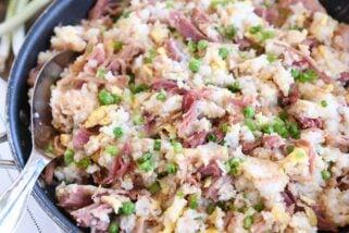 My Go-To Fried Rice Recipe {Easy Ham Fried Rice}