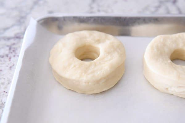 homemade donuts rerolled from scraps