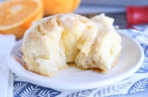 spiral rolled homemade orange sweet roll