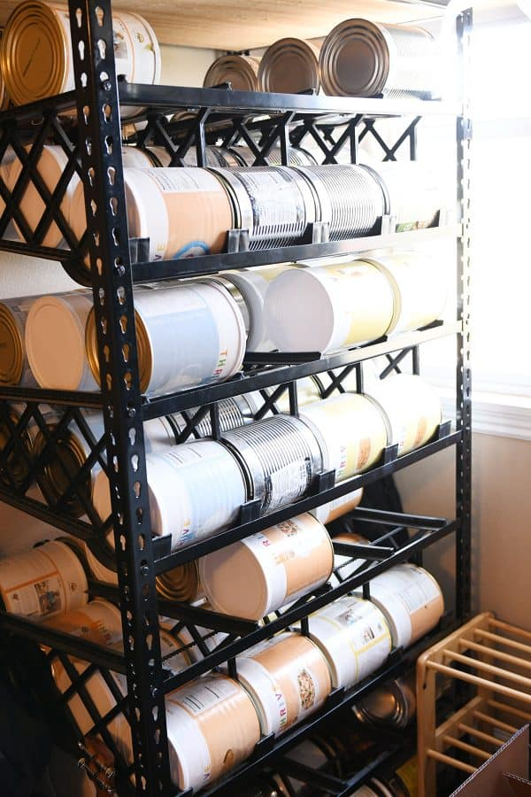 rolling shelf reliance shelves for food storage