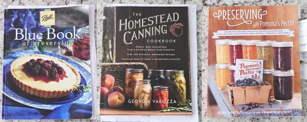 ball blue book of preserving, homestead canning book, pomona's pectin book