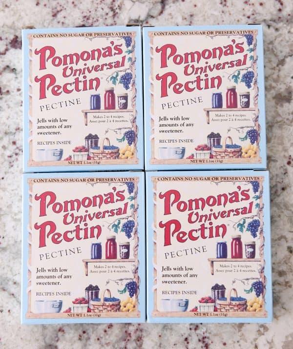 four boxes of pomona's pectin